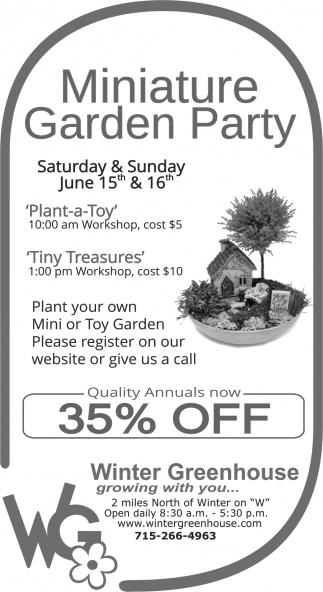 Miniature Garden Party