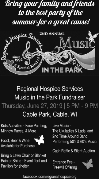 Regional Hospice Services Music in the Park Fundraiser