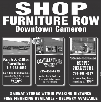 SHOP FURNITURE ROW Downtown Cameron