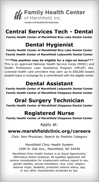 Central Services Tech / Dental Hygienist / Dental Assistant