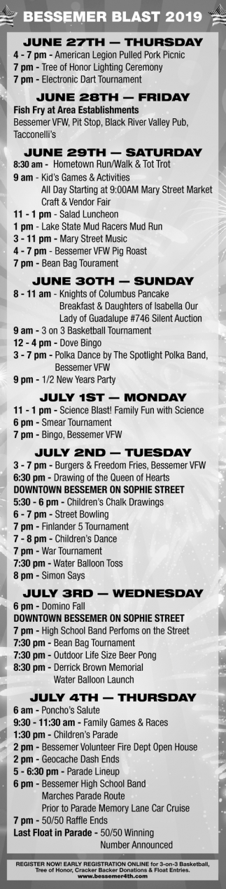 June 27th - July 4th