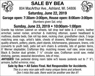 Saturday, June 22, 2019