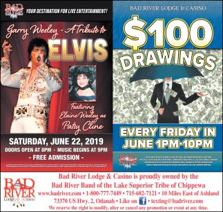 Garry Wesley A Tribute to Elvis / $100 Drawings