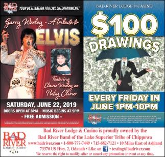 Garry Wesley A Tribute to Elvis / $100 Drawings