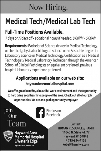 Medical Tech/Medical Lab Tech
