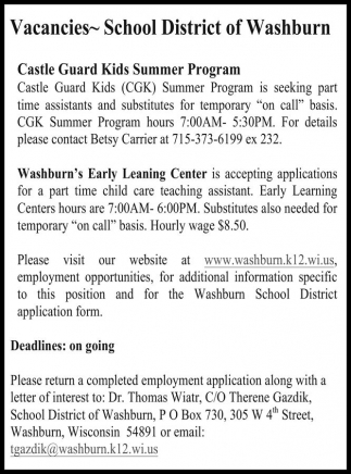 Castle Guard Kids Summer Program