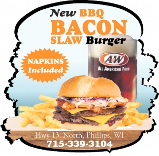 New BBQ Bacon Slaw Burger