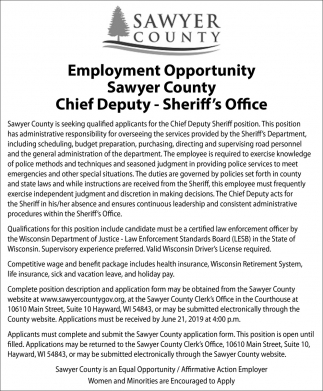 Chief Deputy - Sheriff's Office