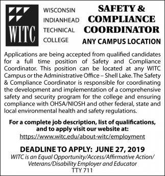 Safety & Compliance Coordinator