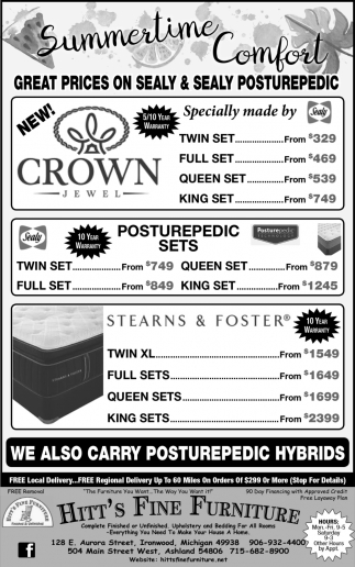 Great Prices on Sealy & Sealy Posturepedic