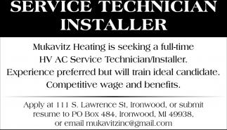 Service Technician Installer