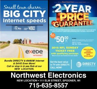 Small town charm... BIG CITY Internet speeds
