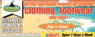 Summer Clothing, Footwear and Gear