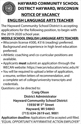 English Language Arts Teacher