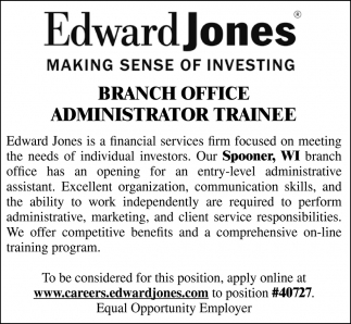 Branch Office Administrator Trainee