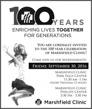 100 Years Enriching Lives Together For Generations