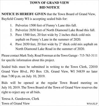 Bid Notice