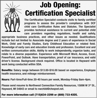 Certification Specialist