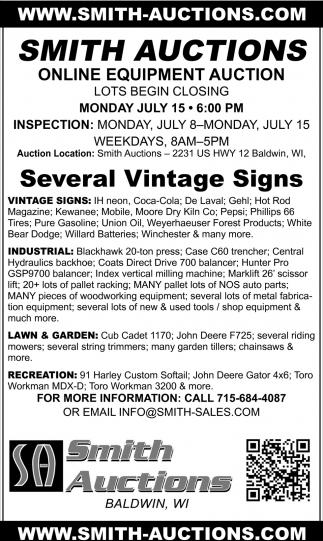 Several Vintage Signs