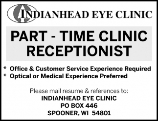 Part-Time Clinic Receptionist