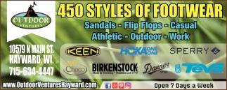 450 Styles of Footwear