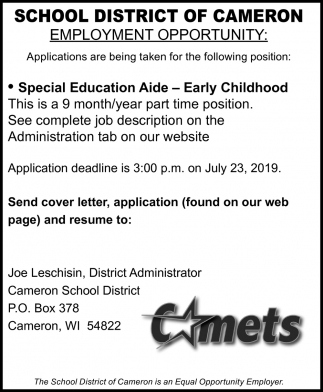 Special Education Aide - Early Childhood