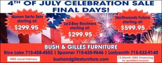 4th of July Celebration Sale