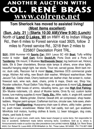Tom Sherlock has moved to assisted living!