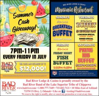Summer Cash Giveaway / Manomin Restaurant