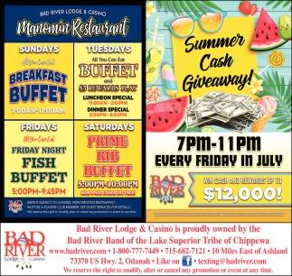 Manomin Restaurant / Summer Cash Giveaway