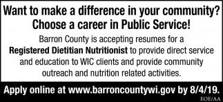 Registered Dietitian Nutritionist