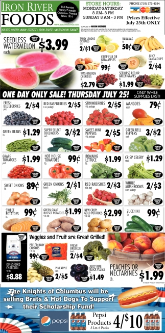 One day only sale! Thursday July 25!