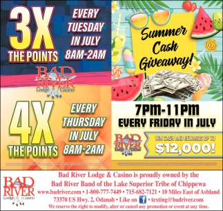 3X The Points 4X The Points / Summer Cash Giveaway
