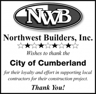 City of Cumberland Thank You