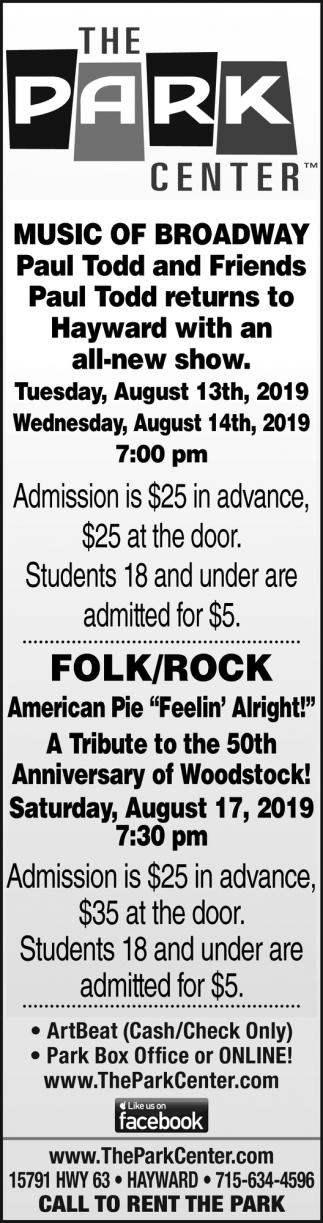 Music of Broadway,Folk/Rock