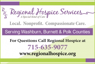Serving Washburn, Burnett & Polk Counties