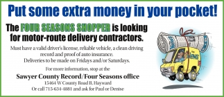 Motor route delivery contractors