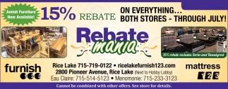 15% Rebate Mania