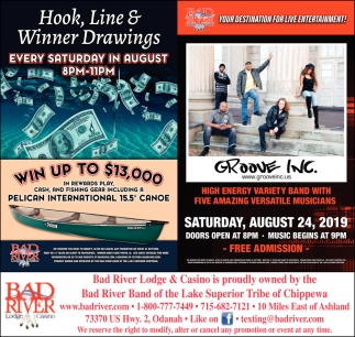 Hook, Line & Winner Drawings / Groove Inc
