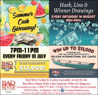 Summer Cash Giveaway / Hook, Line & Winner Drawings