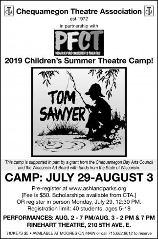 2019 Children's Summer Theatre Camp