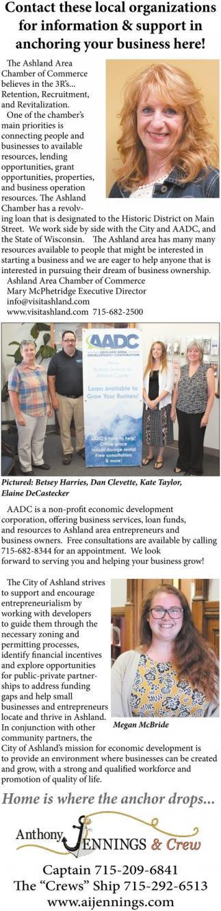 Contact these local organizations for information & support in anchoring your business here!