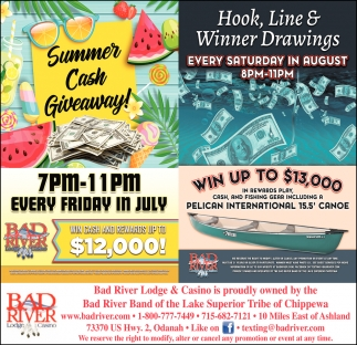 Summer Cash Giveaway / Hook, Line & Winner Drawings