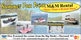 Summer Fun From M & M Rental