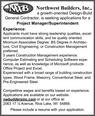 Project Manager / Superintendent