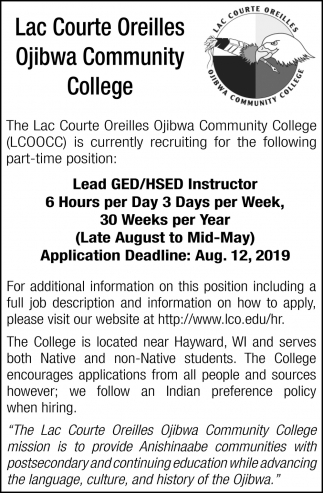 GED/HSED Instructor
