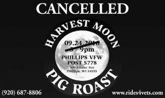 CANCELLED HARVEST MOON PIG ROAST