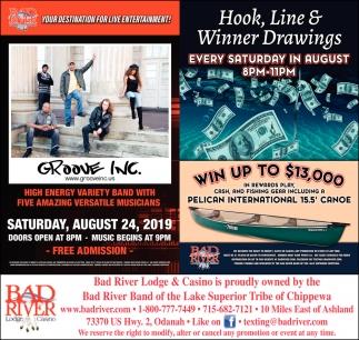 Groove Inc / Hook, Line & Winner Drawings