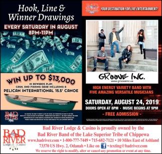 Hook, Line & Winner Drawings / Groove Inc