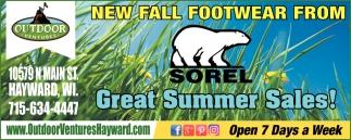 New fall footwear from Sorel
